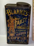 """Vintage """"Blanke's Faust"""" Blend-A Coffee Collectible Tin"""