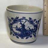 Vintage Delft Pottery Planter Signed on Bottom