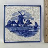 Blue & White Porcelain Windmill Tile