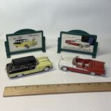 Pair of Collectible Cars with Signs