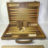 Backgammon Set in Wooden Case