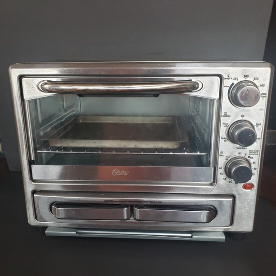 Oster Toaster Oven With Pizza Drawer, Works