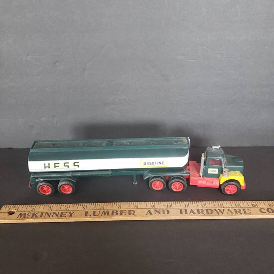 Vintage Marx Hess Fuel Tanker Toy Truck, Made in Hong Kong