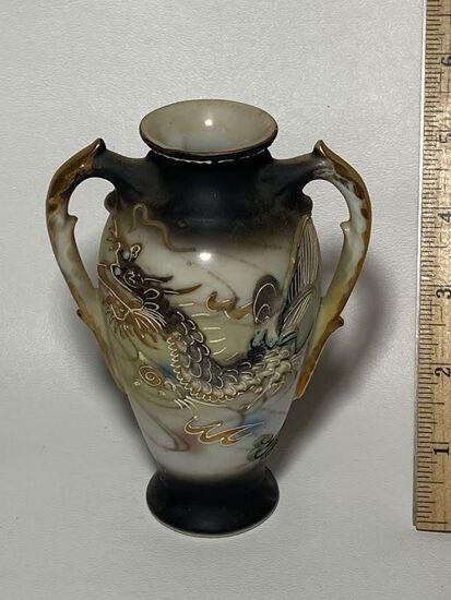 Dragonware Porcelain Double Handled Vase