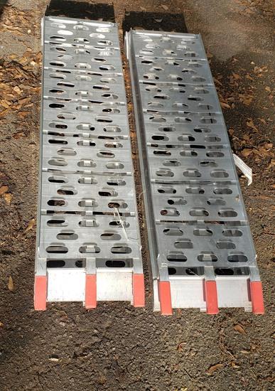 Pair of Aluminum Ramps, Max Weight 1500 Lbs. Per Set