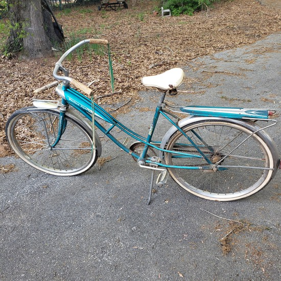 Vintage Western Flyer Sonic Turquoise Bicycle