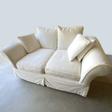 Ivory Love Seat with Custom Cover by Rooms to Go