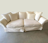 Large Ivory Sofa with Pillows & Custom Cover by Rooms to Go