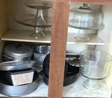 Very Nice Lot of Kitchen Ware - Domed Cake Plate, Pedestal Cake Plates & Misc Bakeware