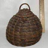 Unique Woven Lidded Basket Vessel