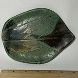 Nice Pottery Leaf Spoon Rest