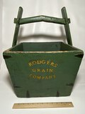 """Awesome Wooden """"Rodgers Grain Company"""" Bucket"""