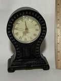 Decorative Molded Resin Desk Clock - Battery Operated