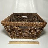 Large Square Decorative Double Handled Woven Basket
