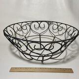 Black Round Wire Basket