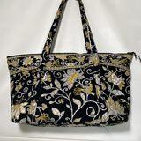 Large Vera Bradley Tote/Diaper Bag with Black & Yellow