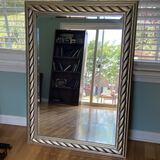 Wall Mirror with Gilt Rope Frame