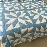 Gorgeous Hand Made Blue & White Quilt