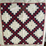 Hand Made Red, White & Blue Lap Quilt