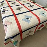 Impressive Vintage Hand Made Butterfly Quilt