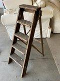 5-Step Vintage Wooden Ladder