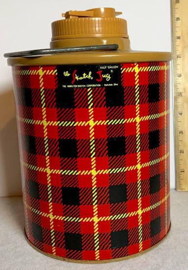 Vintage Glass Insulated Half Gallon Skotch Jug