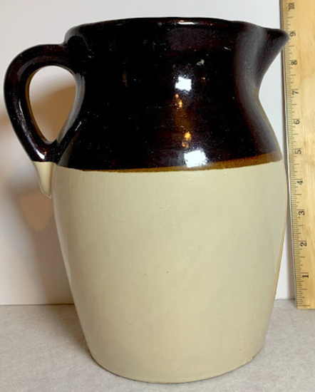 Three Toned Vintage Pottery Pitcher
