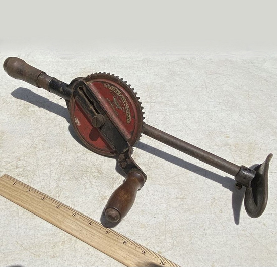 Vintage Millers Fall Company 2-Speed Knee-Brace Hand Drill
