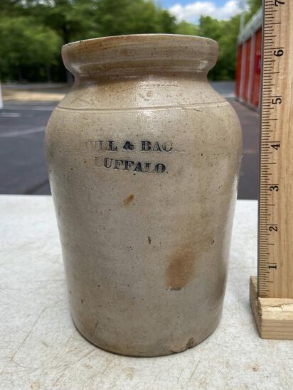 Short Vintage Pottery Vessel Signed on Front
