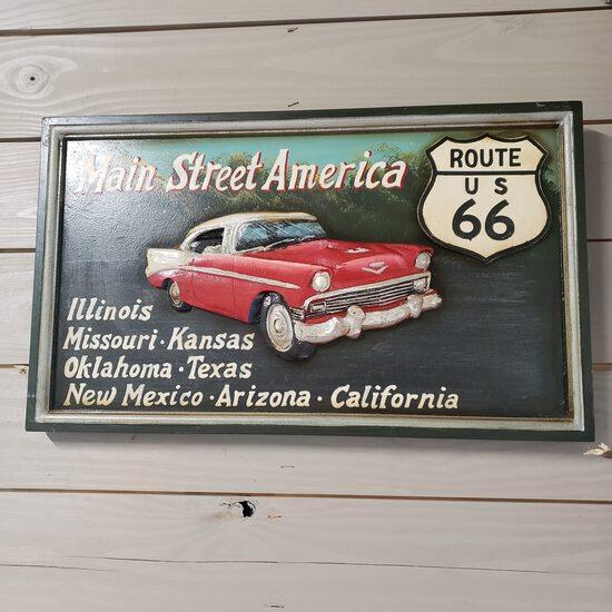 Decorative Route 66 Sign