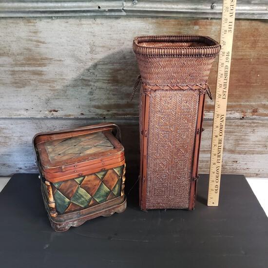 Pair of Unique Baskets