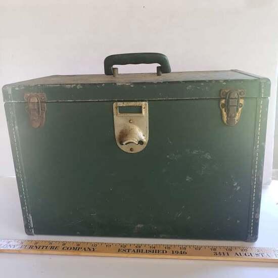 Vintage Vacation Travel Cooler with Bottle Opener, Dark Green