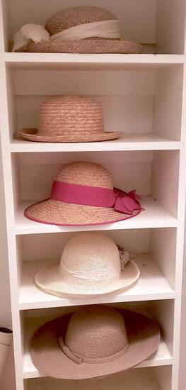 Lot of Women's Straw Hats, Includes 1 Liz Claiborne