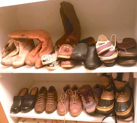 Large Lot of Women's Shoes and Boots
