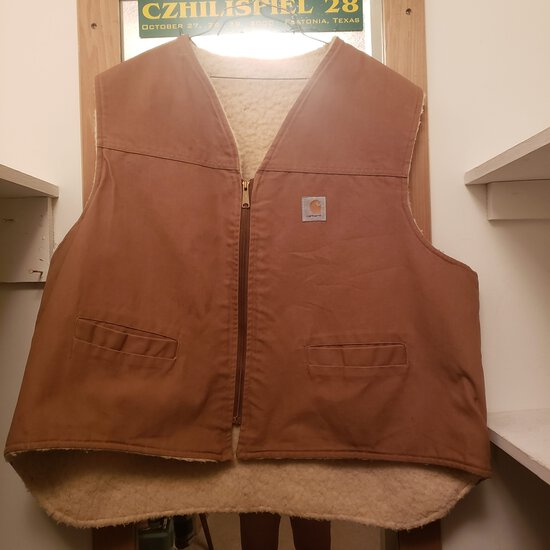 Men's Carhartt Canvas Lined Vest