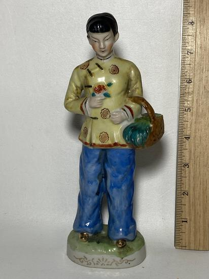 Oriental Hand Painted Porcelain Figurine Made in Japan