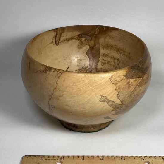 Unique Hand Carved Burl Wood Bowl