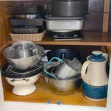 Cabinet Lot of Misc Kitchenware