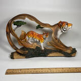 Cool Carved Resin Tiger within an Open Tiger Statue