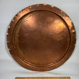 Mission Era Large Hand Wrought Solid Copper Hammered Platter by The Avon Coppersmith Avon, NY