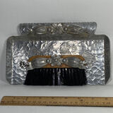 Vintage 2 Pc Crumb Catcher with Hammered Aluminum Tray by Hand Wrought Creations by Rodney