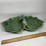 Adorable Double Leaf Dish with Birds