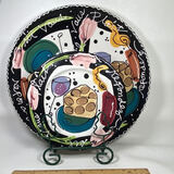 Large Platter, Small Plate & Stand (Handcrafted for Lotus by Joanne Delomba)
