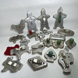 Large Lot of Vintage Aluminum Cookie Cutters