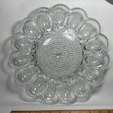 Beautiful Hobnail Glass Egg Platter