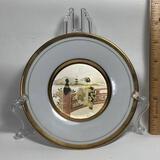 Art of Chokin Decorative Plate on Plastic Stand