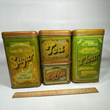 4 pc Cheinco Metal Canisters with Lids