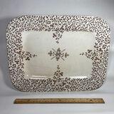 Large Vintage Opaque Porcelain Rectangular Platter