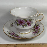 Bone China Queen Anne Tea Cup & Saucer Made in England