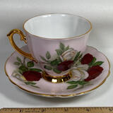 Bone China Clarence Tea Cup & Saucer Made in England
